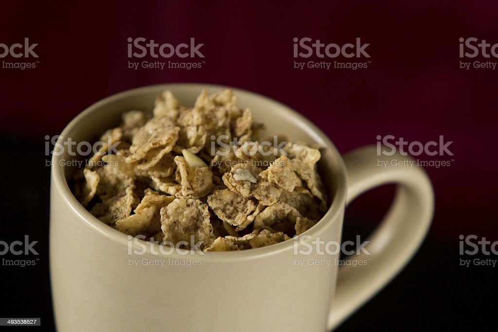 Cereal in cup stock photo