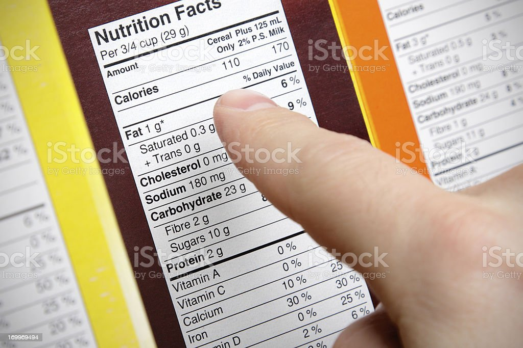 Cereal Nutrition stock photo