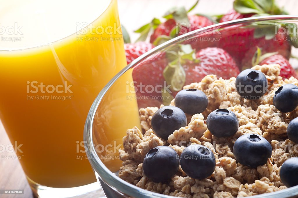 Cereal Orange Juice royalty-free stock photo