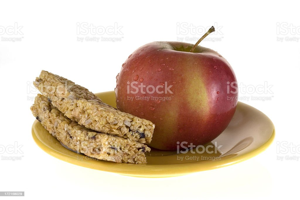 Cereal Snack Bars with Apple stock photo