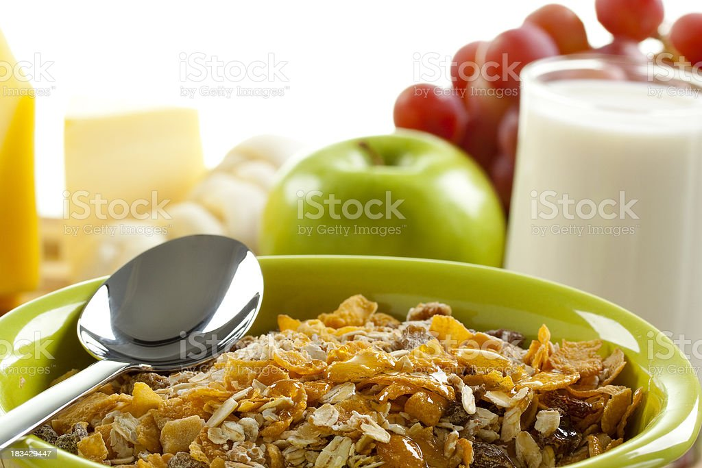Cereal with Breakfast royalty-free stock photo