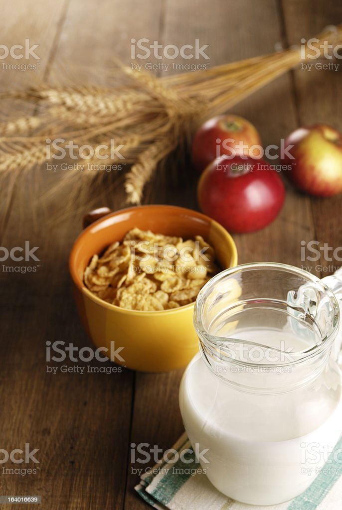 cereals and milk royalty-free stock photo