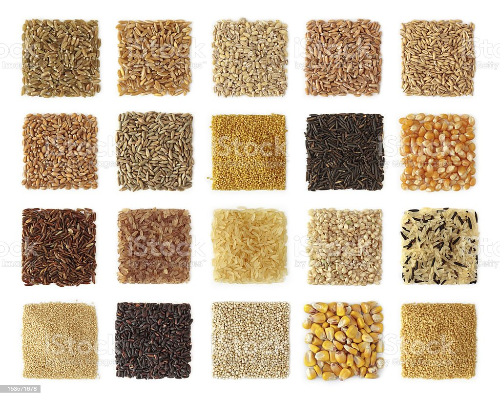 Cereals collection stock photo