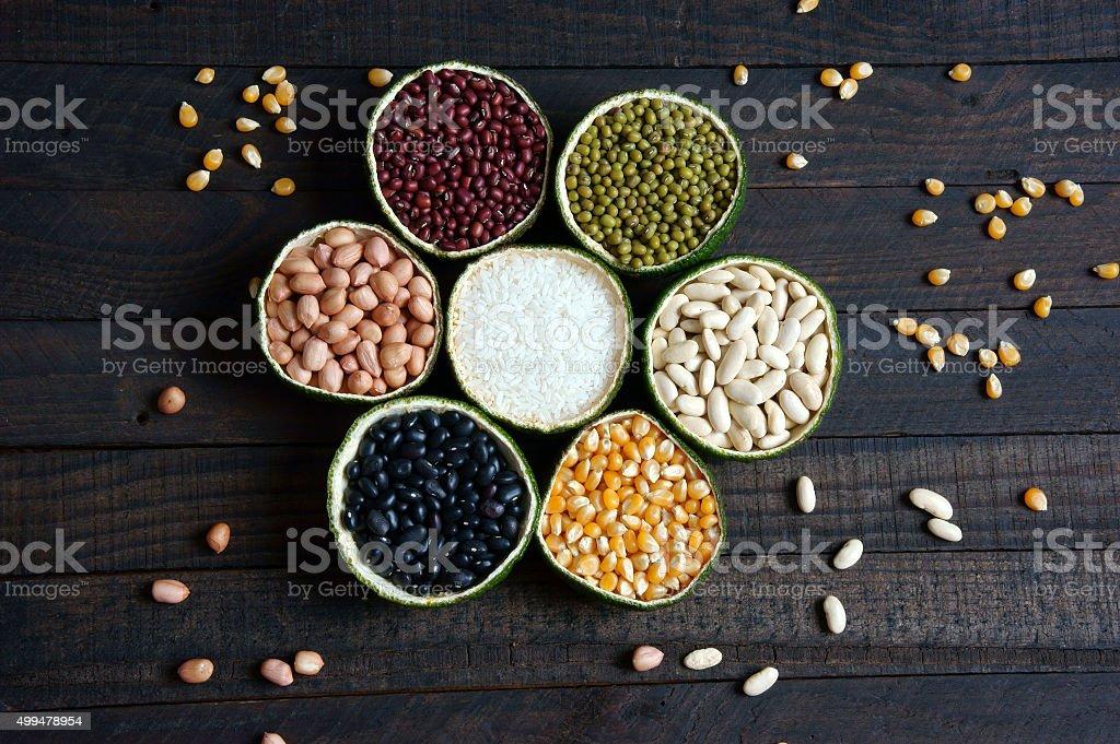 cereals, healthy food, fibre, protein, grain, antioxidant stock photo