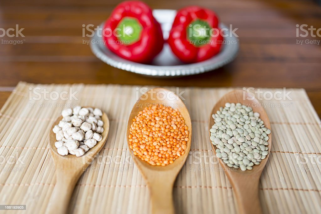 Cereals in a spoon royalty-free stock photo