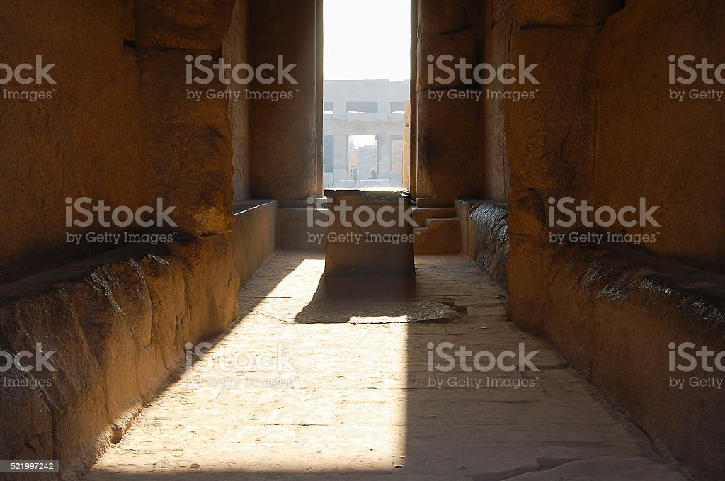 Ceremonial Altar - Karnak Temple - Luxor - Egypt stock photo