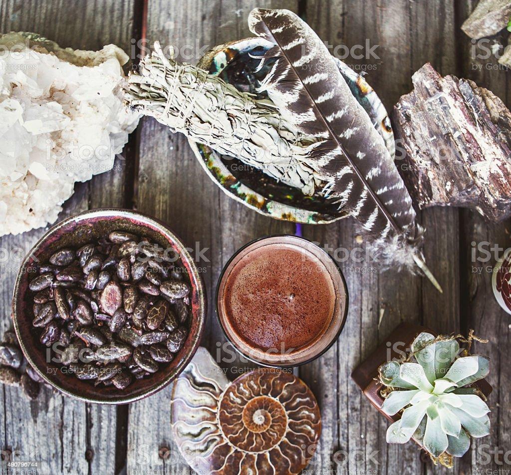 Ceremonial Cacao stock photo