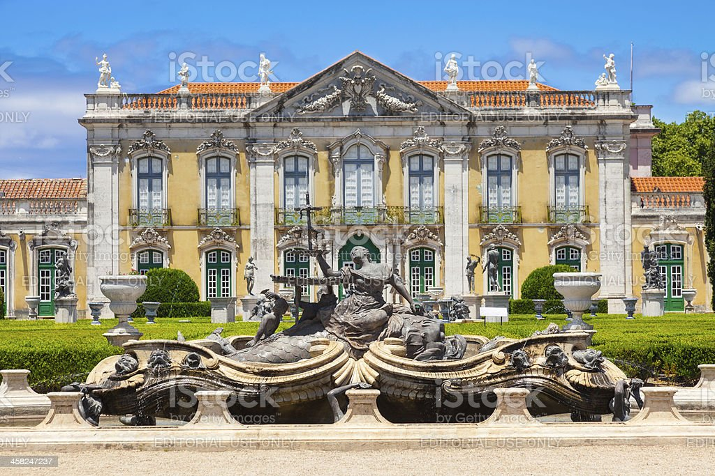Ceremonial facade of the corps de logis. royalty-free stock photo