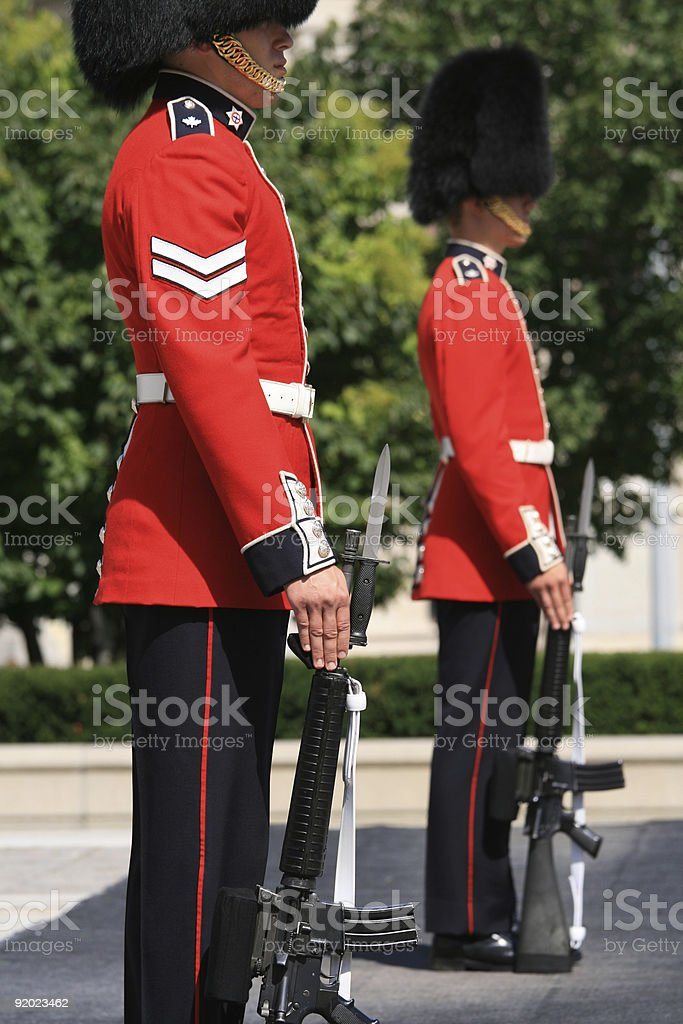 Ceremonial Guards royalty-free stock photo