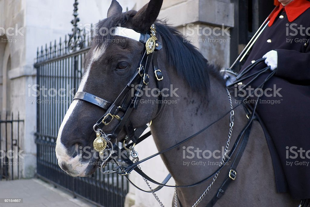 Ceremonial Horse Guard, London royalty-free stock photo
