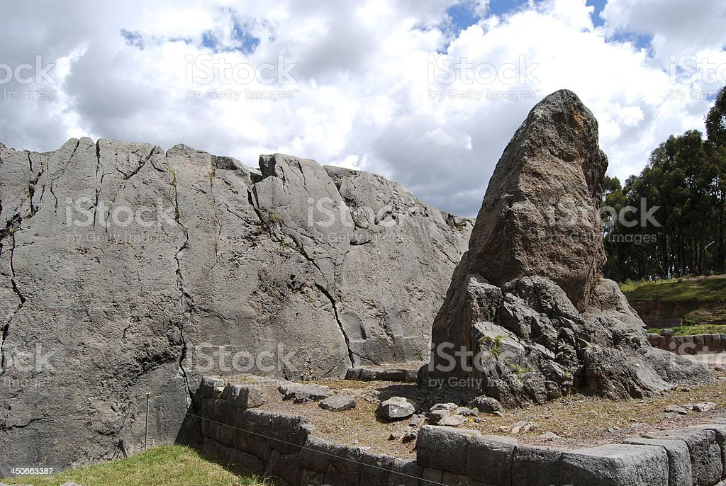 Cerimonial rocks in Qenko. Cusco. Peru stock photo