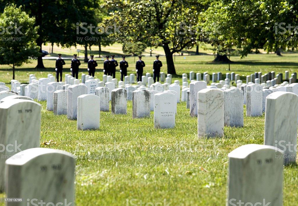 Ceremony at Arlington royalty-free stock photo