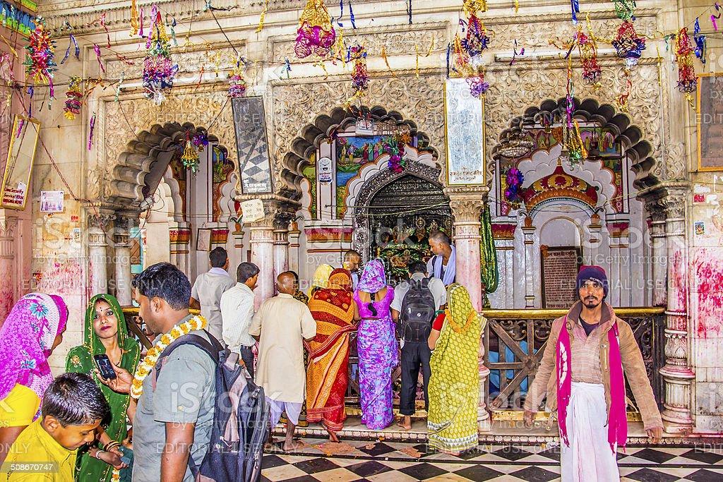 ceremony at Janaki Mandir stock photo