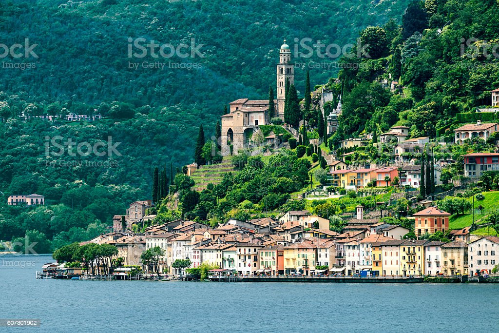 Ceresio lake (Ticino, Switzerland) stock photo