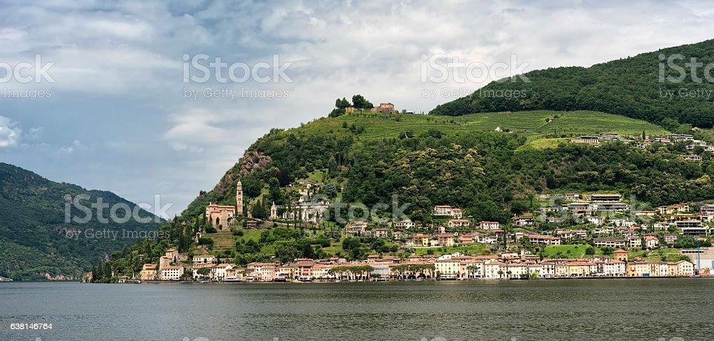 Ceresio lake (Ticino, Switzerland) stock photo