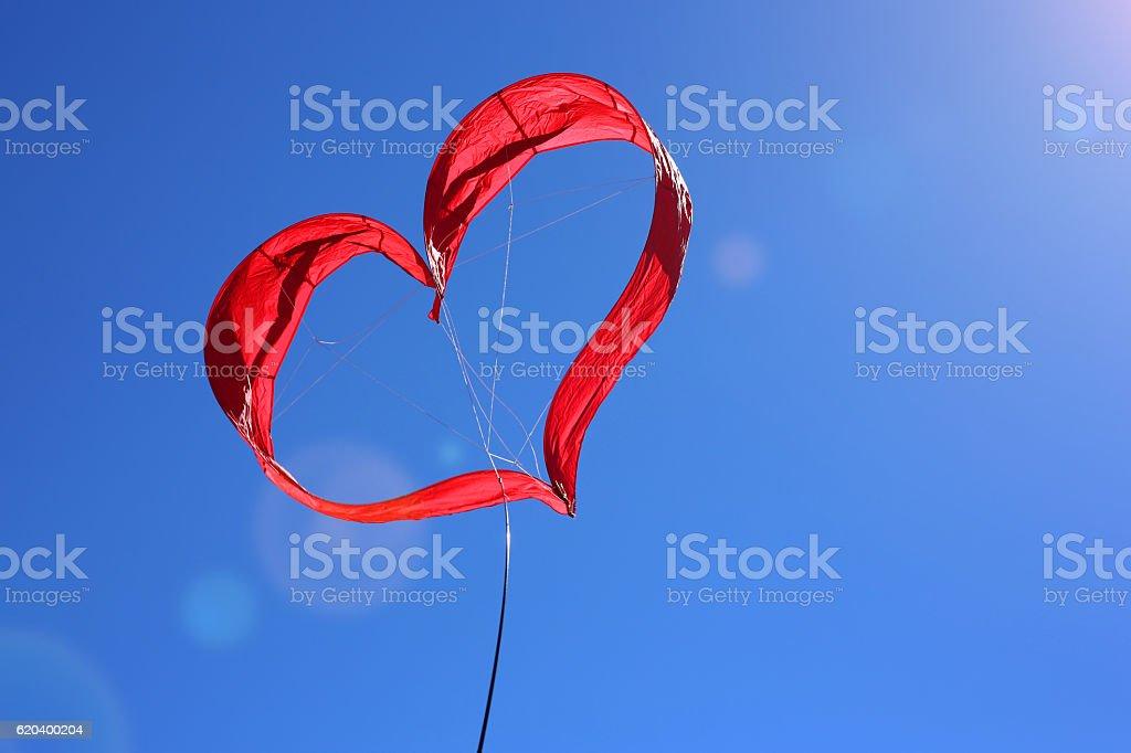 Cerf volant coeur stock photo