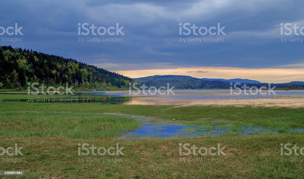 Cerknica Lake stock photo