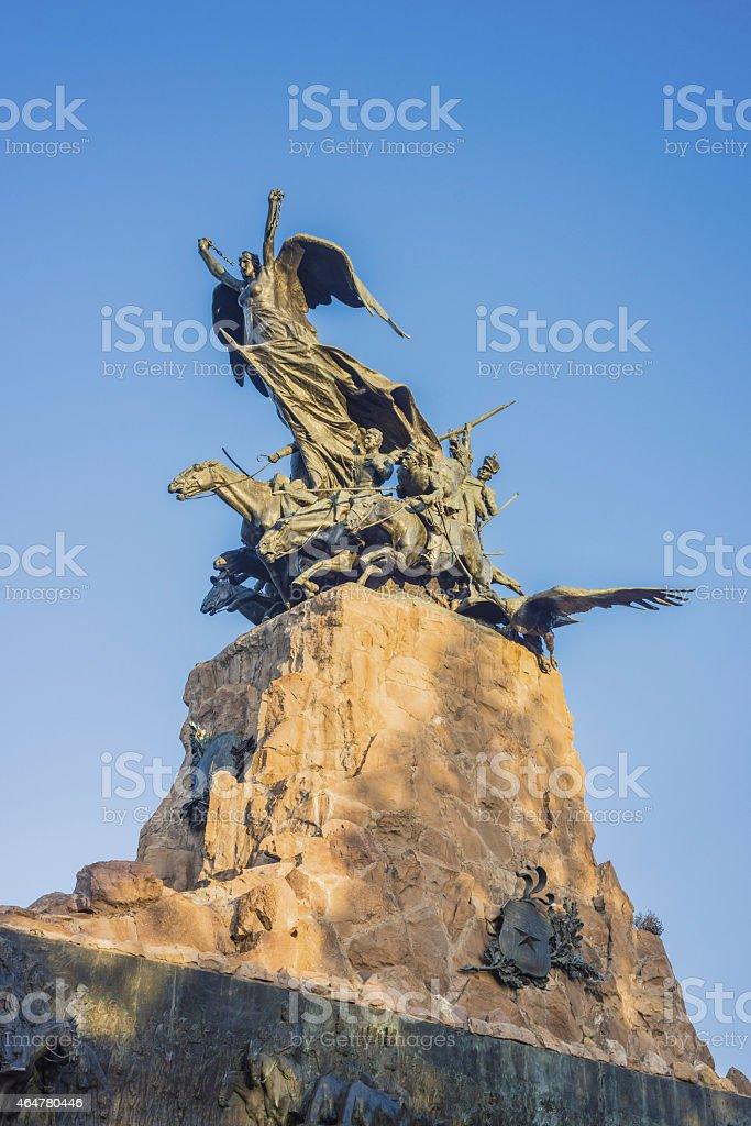 Cerro de la Gloria monument in Mendoza, Argentina. stock photo