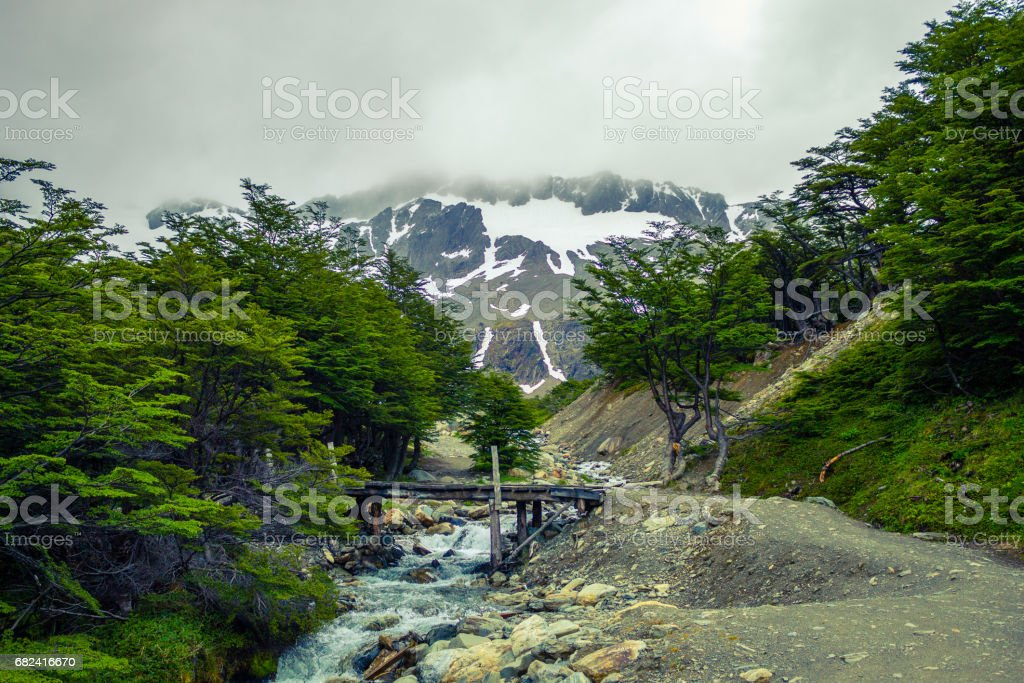 Cerro Martial in summer, Ushuaia, Province Tierra del Fuego, Patagonia Argentina, South America. stock photo