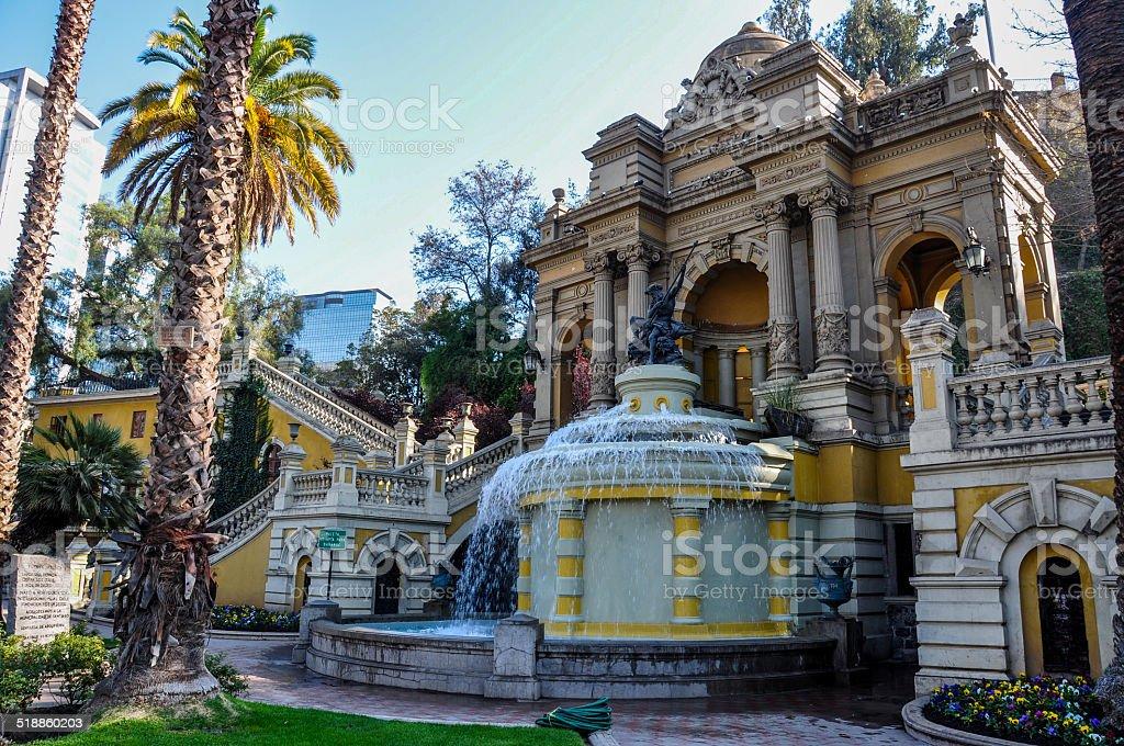 Cerro Santa Lucia in Downtown Santiago, Chile stock photo