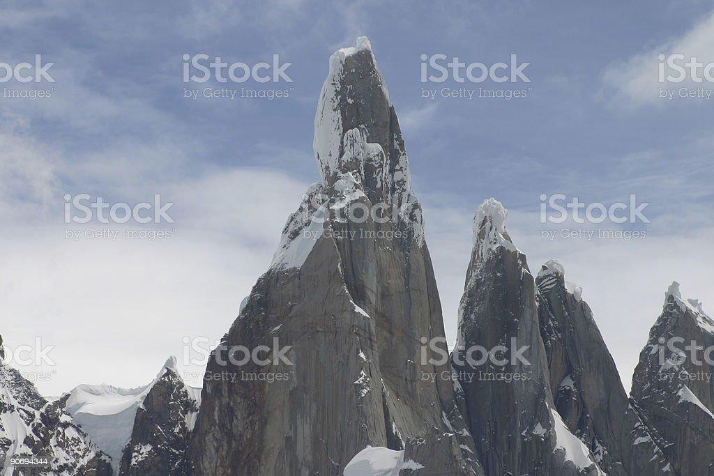 Cerro Torre from El Chalten royalty-free stock photo