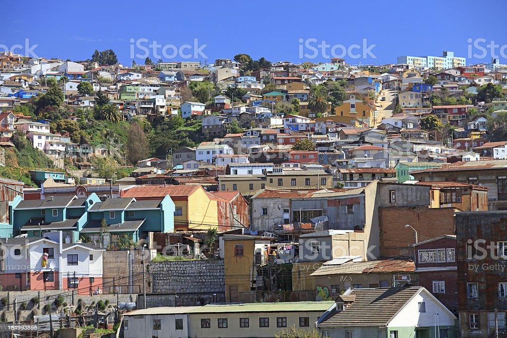 Cerros de Valparaiso, Chile stock photo