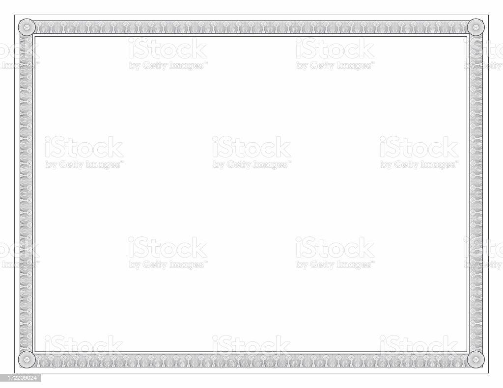 Certificate Border stock photo