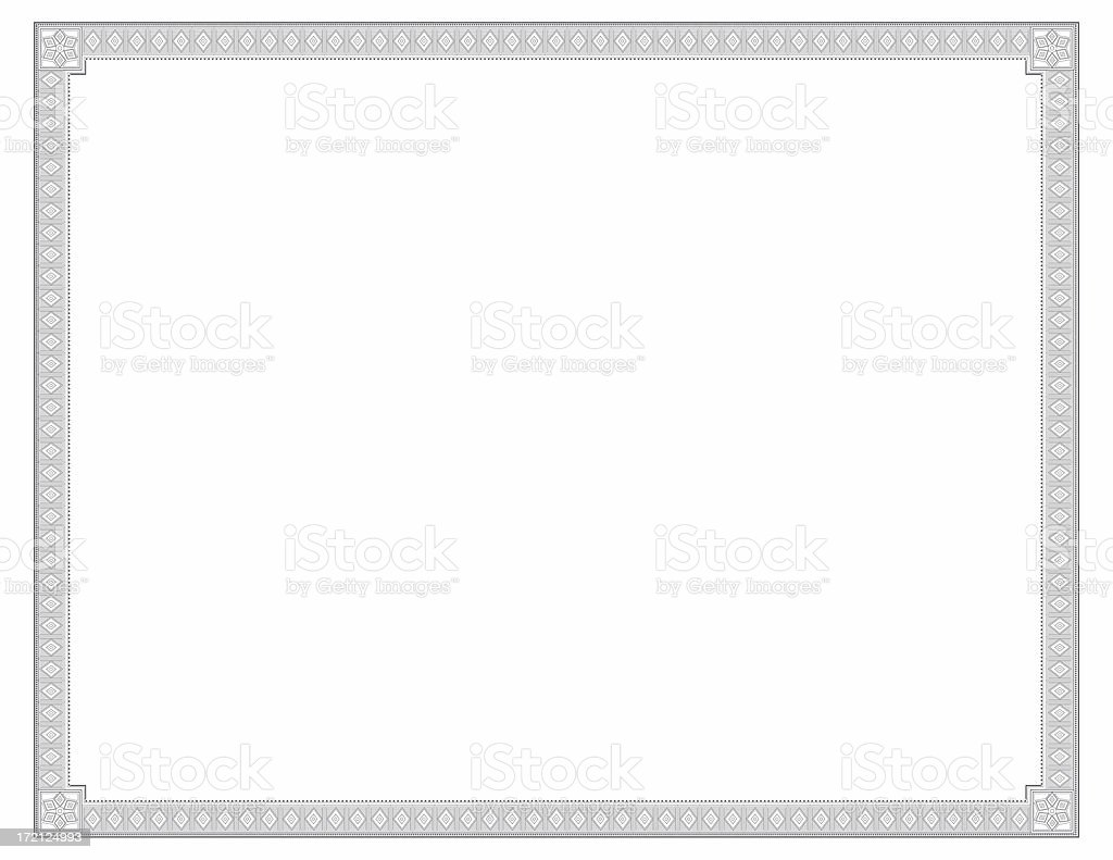 Certificate Diamond Theme stock photo