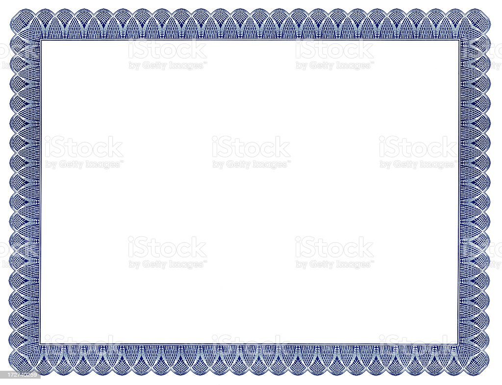 Certificate Frame royalty-free stock photo