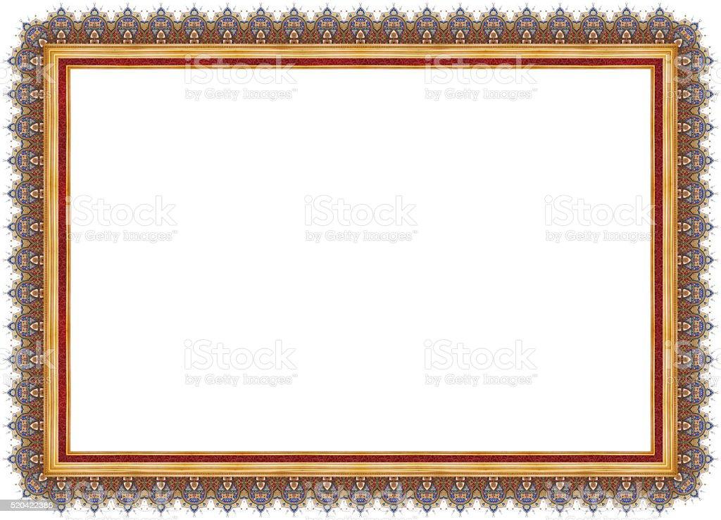 Certificate Frame stock photo