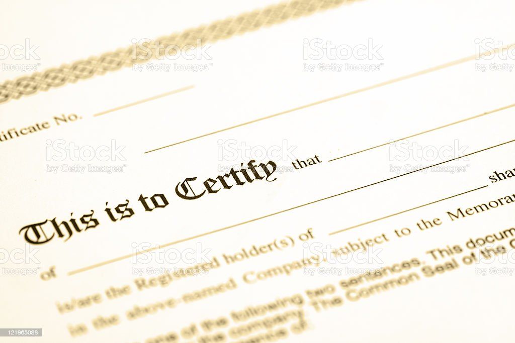 Certificate royalty-free stock photo
