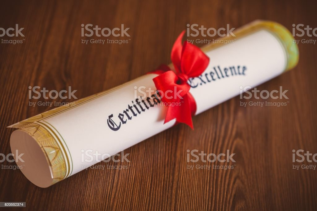 Certificate. stock photo
