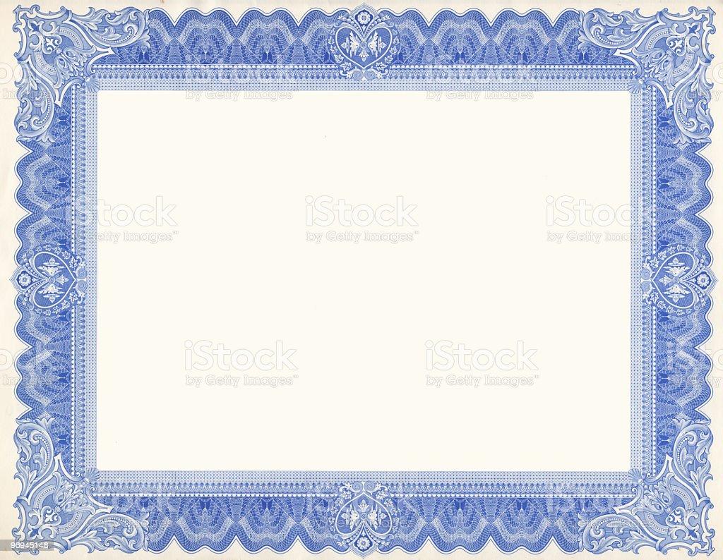 Certificate stock photo