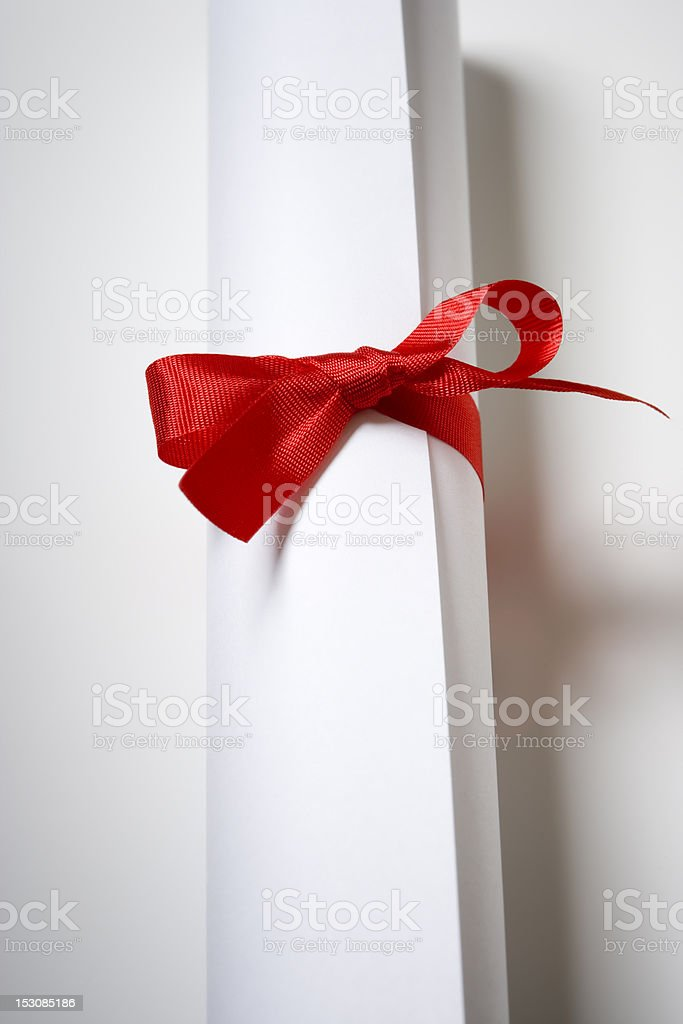 Certificate Scroll royalty-free stock photo