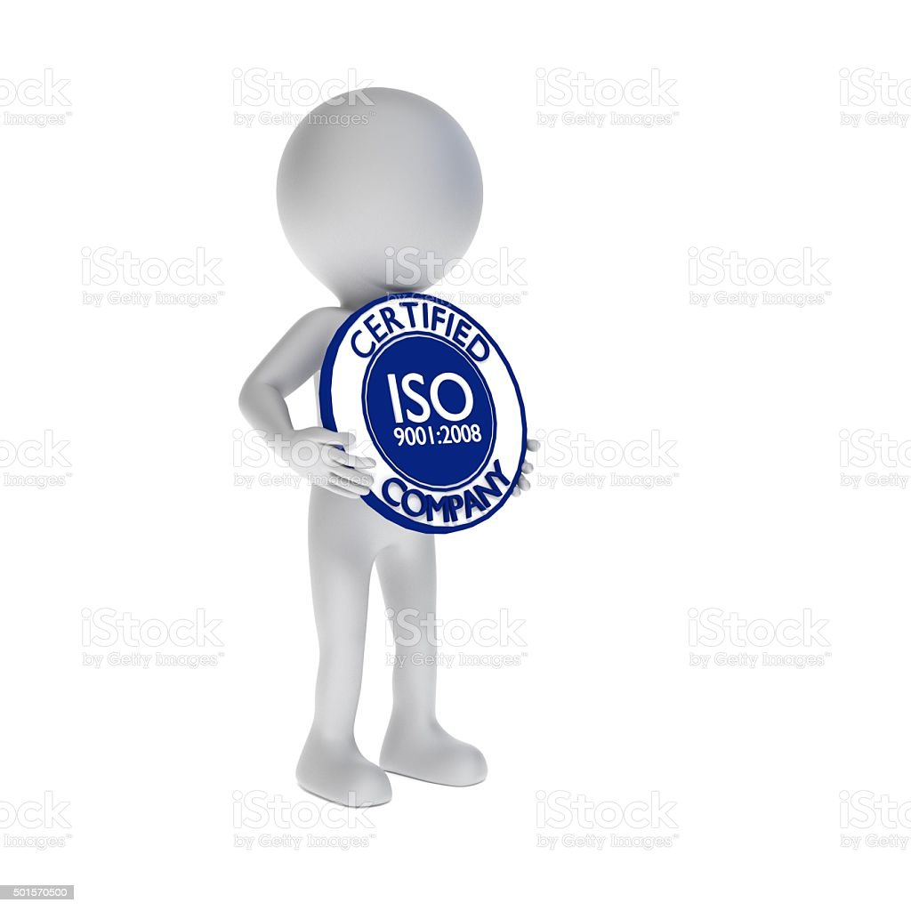 ISO 9001 certification stock photo