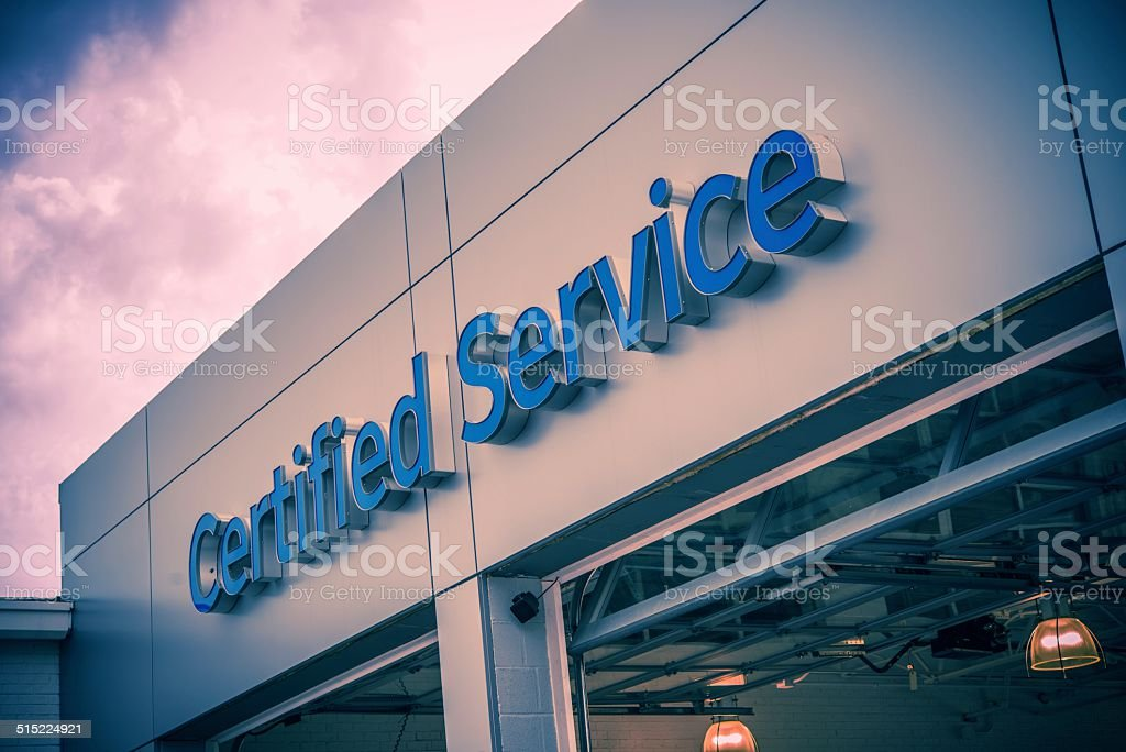 Certified Car Service Gates stock photo