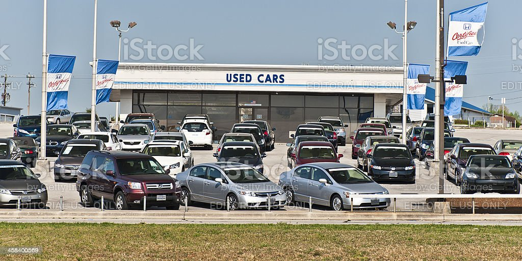 Certified Honda Used Cars Are Very Popular stock photo