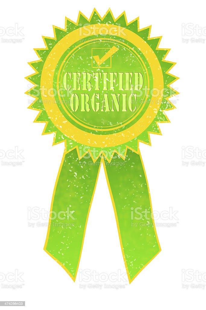 Certified Organic Ribbon royalty-free stock photo
