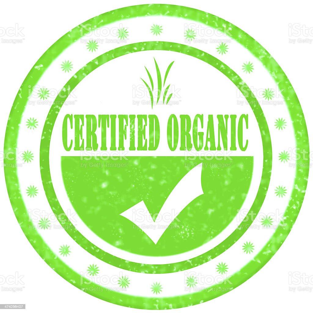 Certified Organic Sign stock photo