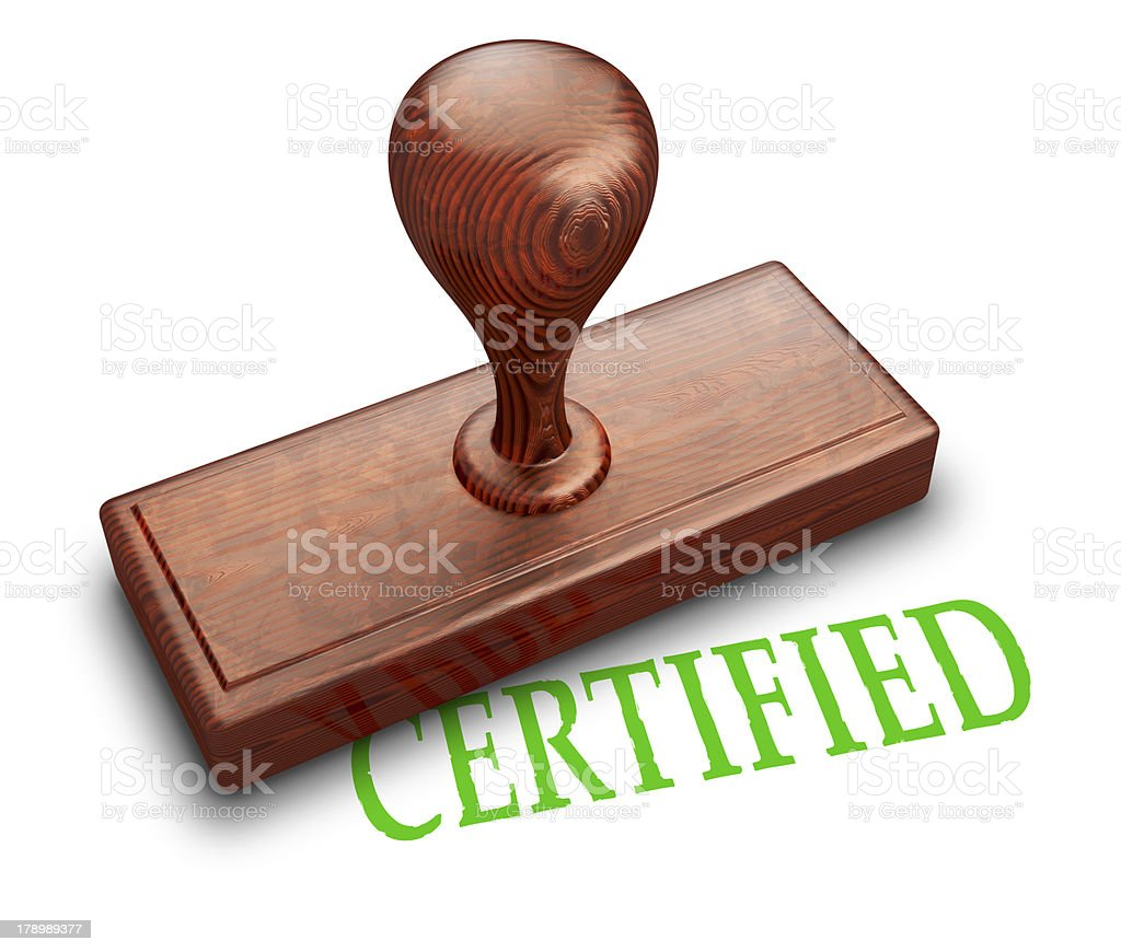 Certified stamp royalty-free stock photo