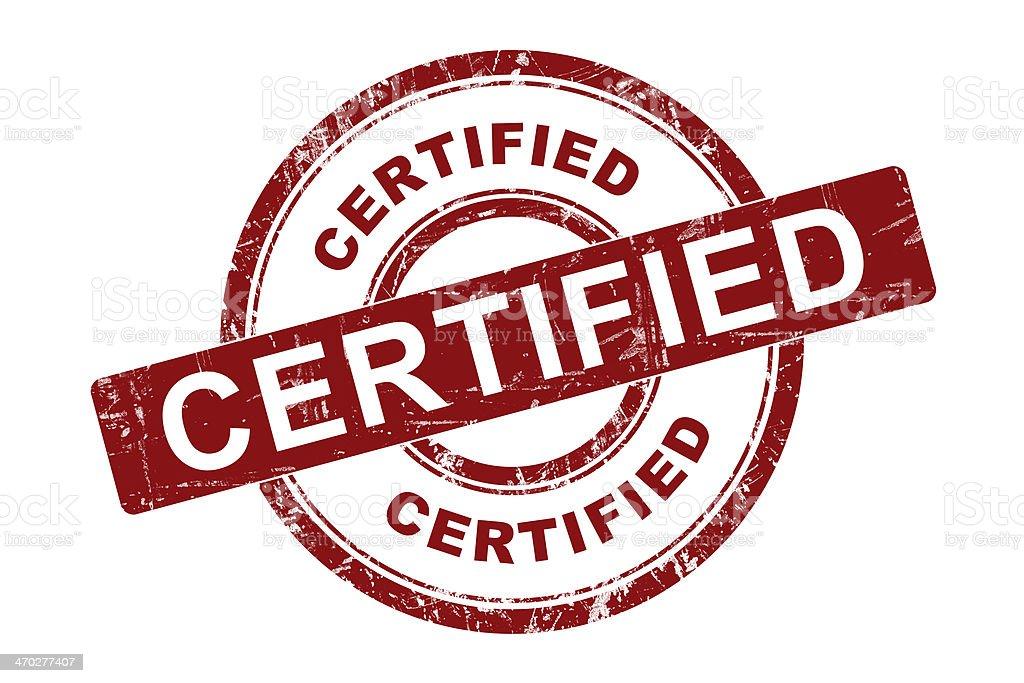 Certified Symbol stock photo