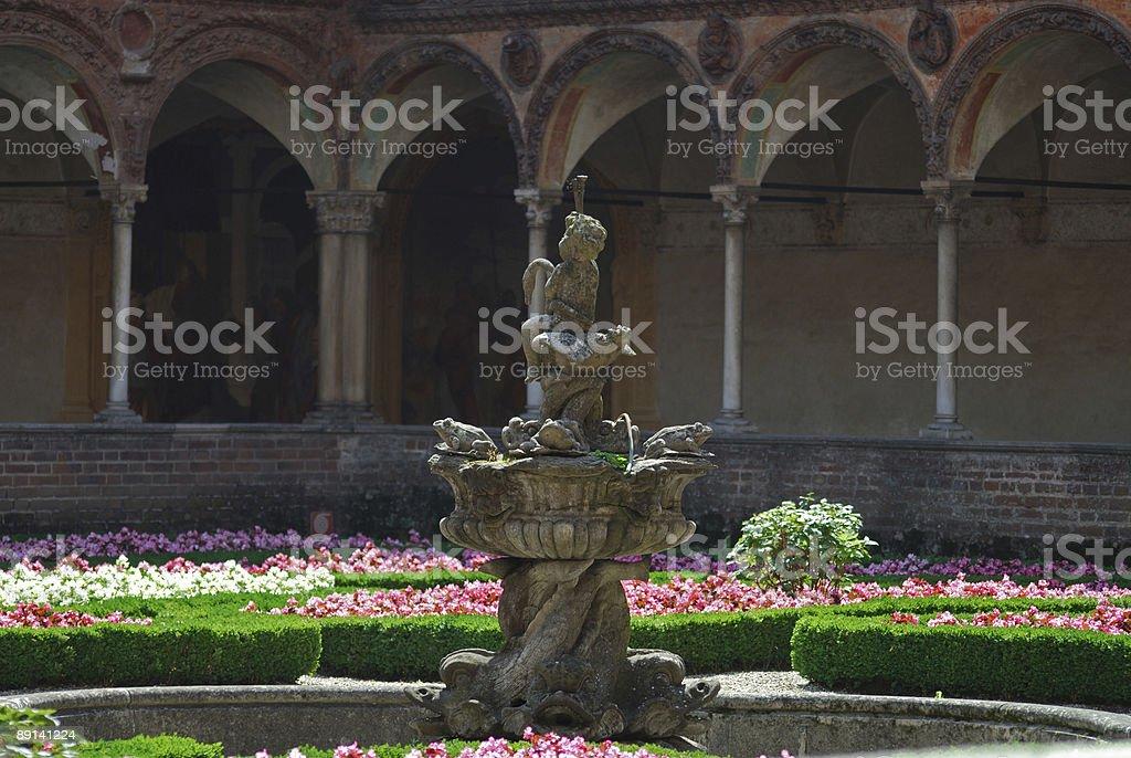 Certosa di Pavia (Lombardy, Italy) - Cloister royalty-free stock photo