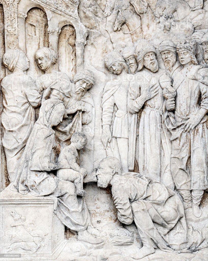 Certosa di Pavia (Lombardy, Italy) stock photo