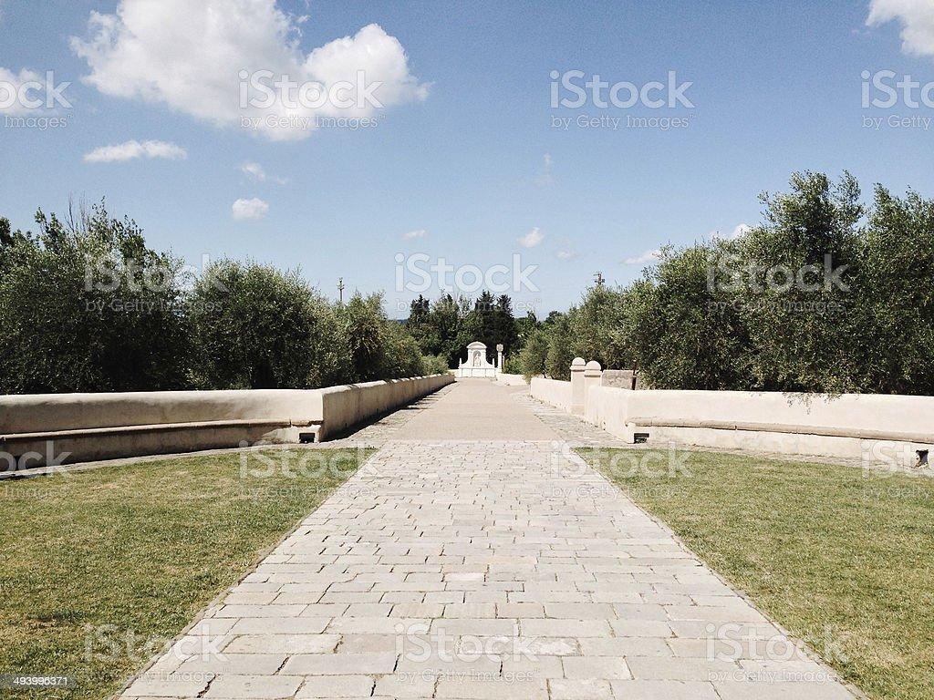 Certosa di Pisa: avenue leading to the monastery stock photo