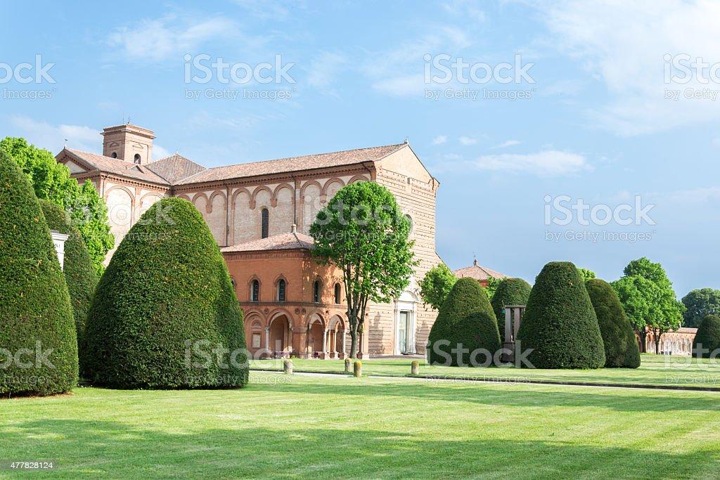 Certosa of Ferrara, the ancient graveyard of the city stock photo