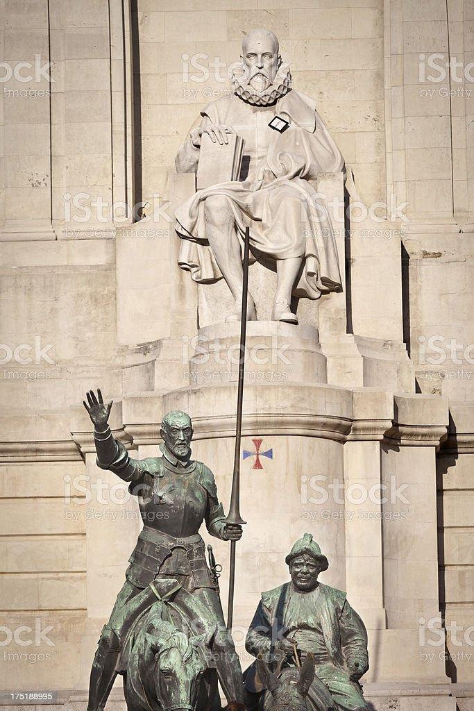 Cervantes Monument stock photo