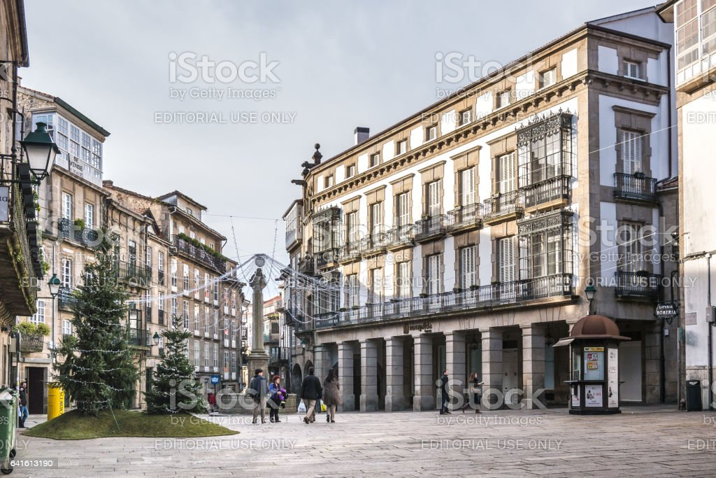 Cervantes Square stock photo