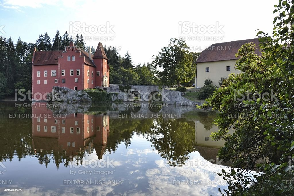 Cervena Lhota Castle in the Czech Republic stock photo