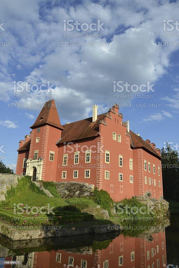 Cervena Lhota Castle in the Czech Republic stock photo