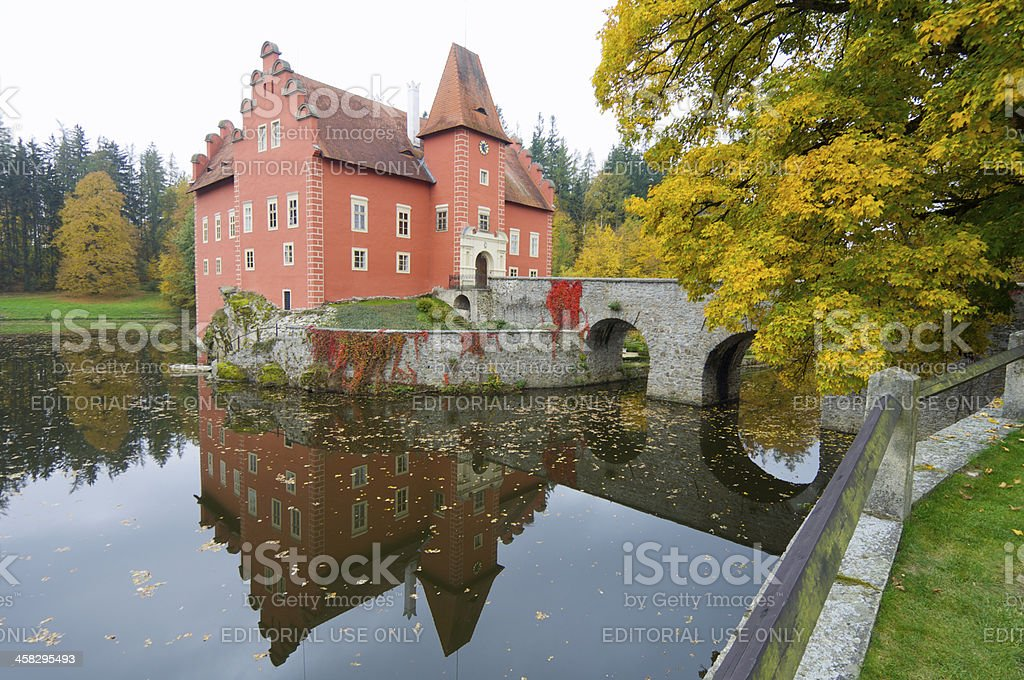 Cervena Lhota Castle stock photo
